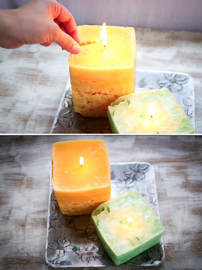 Recycle old candles and make ice candles - Henry Happened