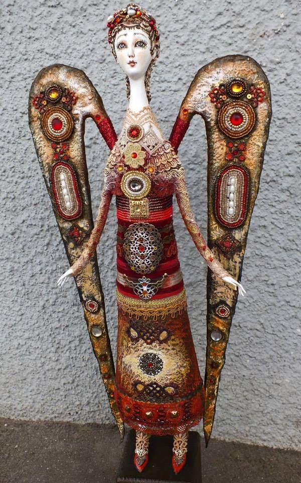 Румянцева Светлана АНГЕЛ флюмо бисер камни 30 см