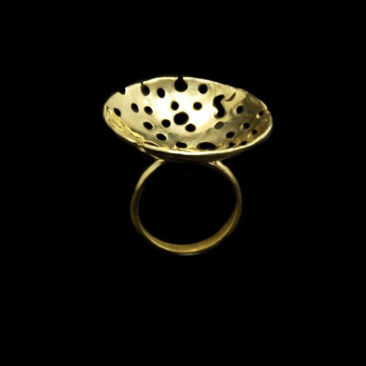 Χειροποίητο δαχτυλίδι με ορείχαλκο