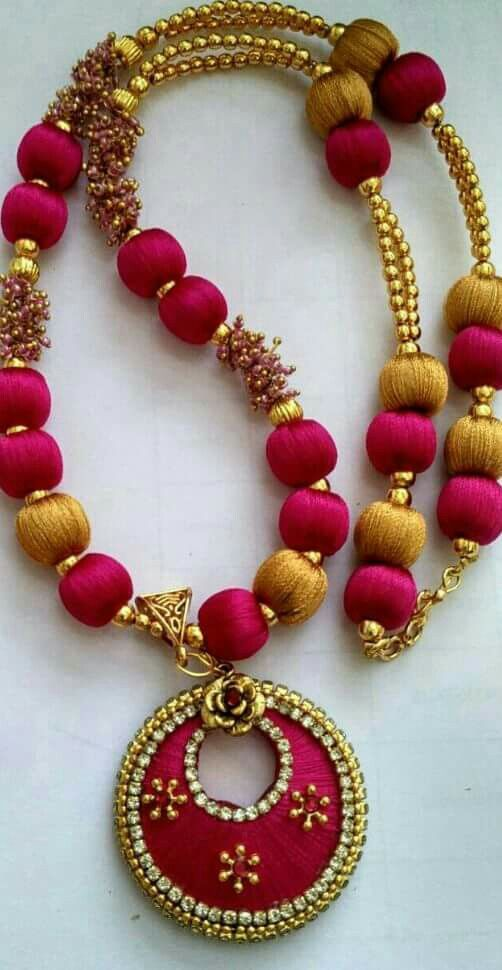 #Silk thread jewellery #cityfashions  To buy plz WhatsApp on +91 9703713779