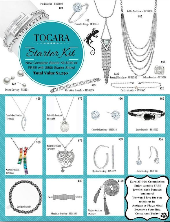 Get started today!  Starter kit includes over $1200 in jewelry.
