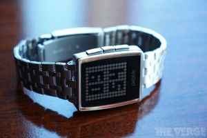 The Pebble Steel watch