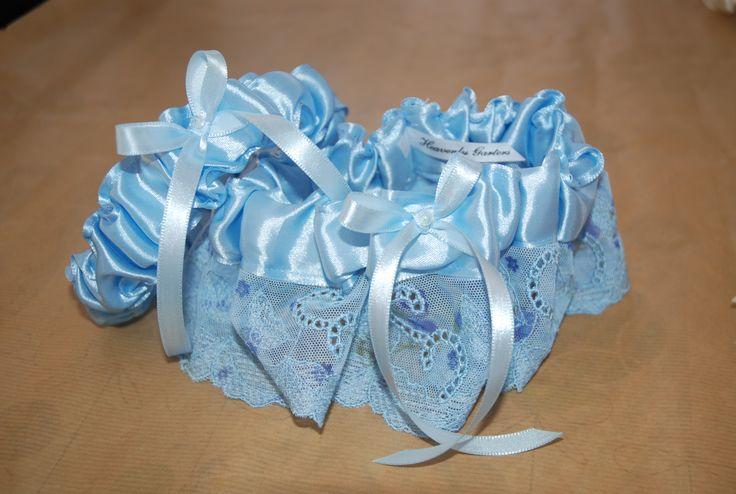 """Something Blue"" wedding garter set. Wedding garters - South Africa www.heavenlygarters.co.za Facebook:  Heavenly-Garters"