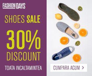 Alege-ti noii pantofi cu 30% REDUCERE!