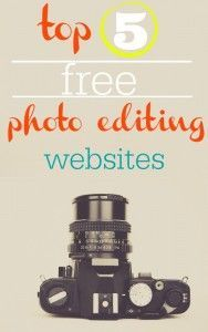 Owning a blog means editing a lot of pictures and I've navigated my way around a few photo editing sites. The best thing about them: these are FREE photo editing sites.