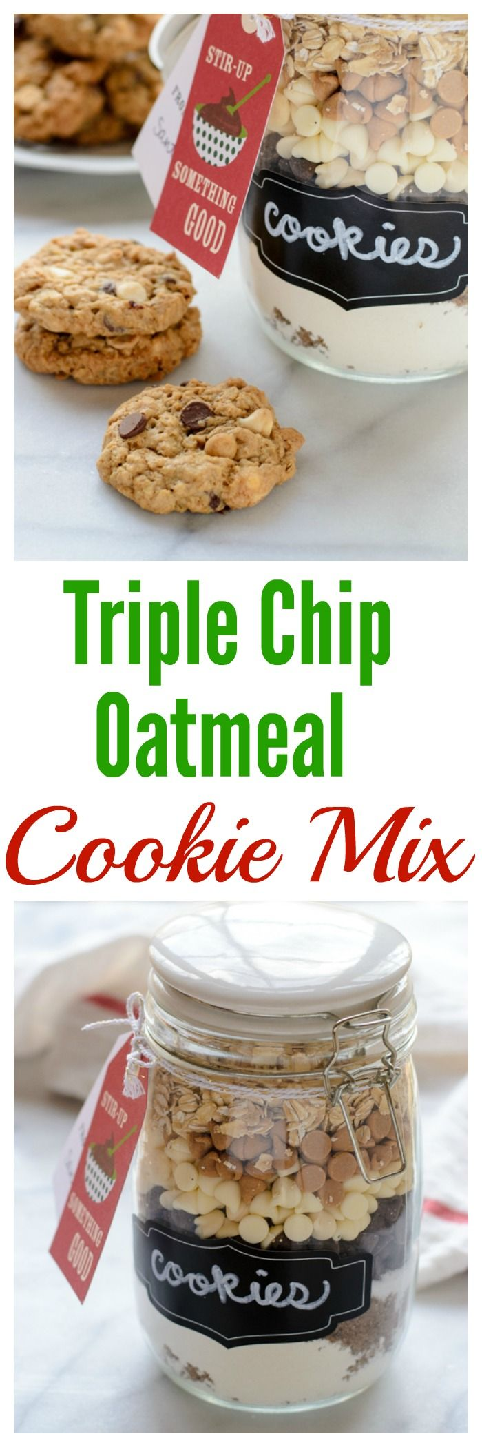 This cookie mix in a jar is the perfect homemade holiday gift or Christmas present! It is absolutely delicious and everyone would want it under the tree!