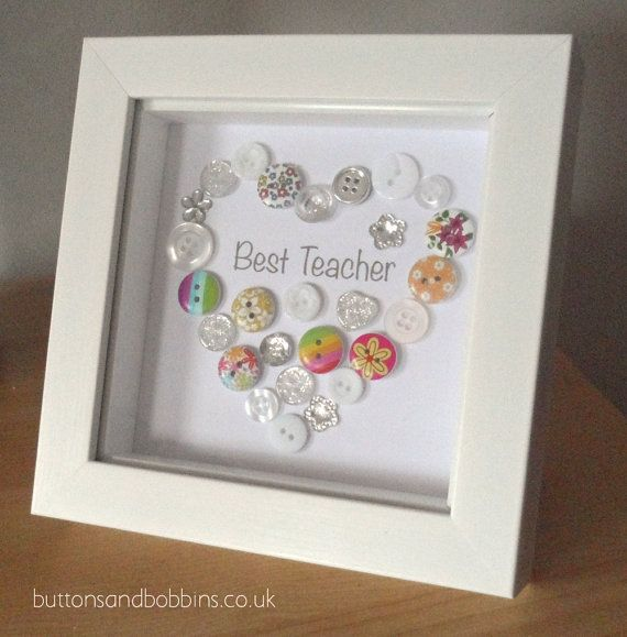 Best Teacher Button Picture / Print - End of Term or Christmas Gift for…