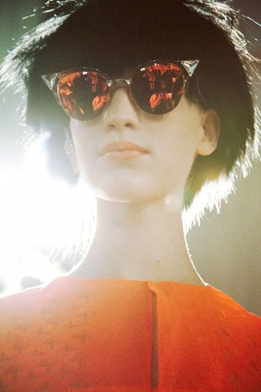 Fendi SS14, photographed by Lea Colombo.  Oh I adore these glasses.