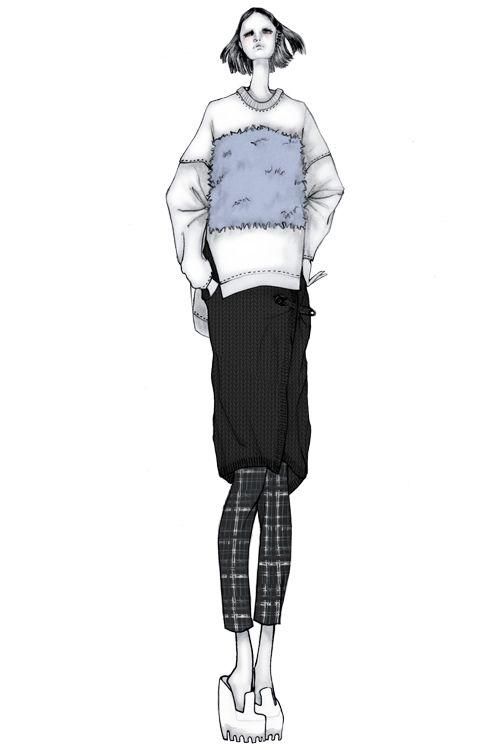 Fashion illustration - fashion design sketch // Issa Grimm