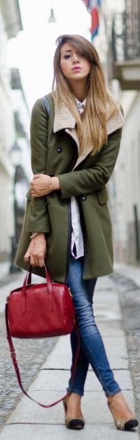 Cappotto Verde Militare Per L'arrivo Dell'autunno by Scent Of Obsession