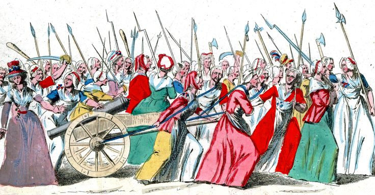 Women's march on Versailles: One of the most crutial events of the French Revolution. Women's responsability at the time was to stand in the long bread lines in order to feed their families. When it was heard that the price was going up, 3000+ parisian women marched in the rain to Versailles and occupied the territory that sorrounded the King's palace and forced to go back with them to Paris and fix the country.