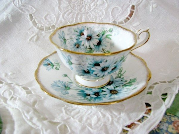 Royal Albert Marguerite Cup and Saucer - Vintage Items for Sale - The Vintage Village