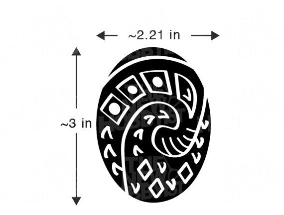 Heart Of Te Fiti Mini Sticker Moana Necklaces Charms