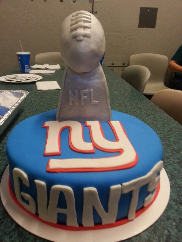 New York Giants Jersey Cake