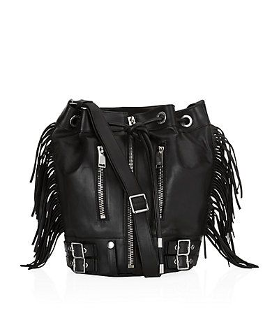 Saint Laurent Fringed Rider Bucket Bag is available to buy at Harrods. Shop designer accessories online & earn Reward points. Free UK Returns.