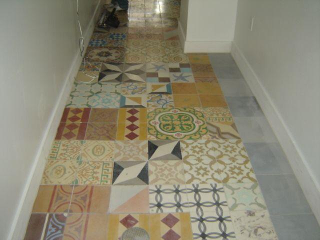 Patchwork tile floor gallery cuban tropical tile co for 1960s floor tiles