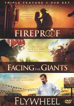 @Overstock - This collection presents three Christian-themed dramas from actor-writer-director Alex Kendrick. In FIREPROOF (2008), a firefighter (Kirk Cameron) uses religious counseling to save his failing marriage and, in the process, his faith in God. In FACING T...http://www.overstock.com/Books-Movies-Music-Games/Fireproof-Facing-the-Giants-Flywheel-DVD/4082154/product.html?CID=214117 $28.69