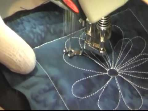Free Motion Quilting Video: Sunflower