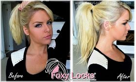 Imogen Foxy Locks: How To Put Your Hair Up (Ponytail) Using Clip In Hair Extensions - Tutorial (Foxy Locks)