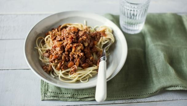 Tom Kerridge's delicious spaghetti Bolognese uses restaurant know-how to enhance this cheap-as-chips dish.