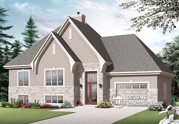 Plan Maison Foyer Central : Plan de maison unifamiliale w v plafond à plus