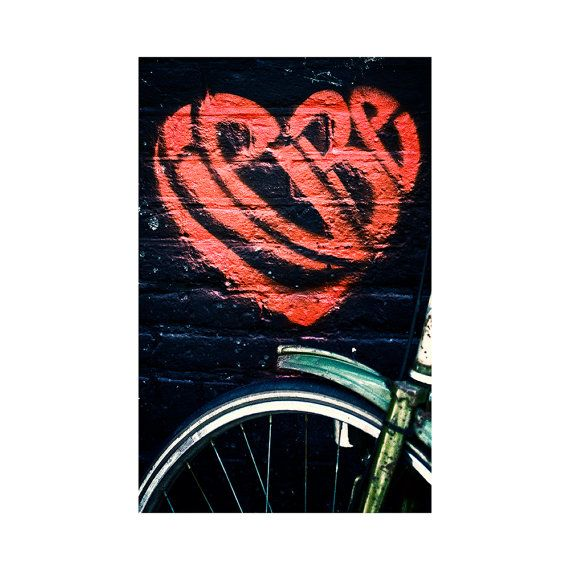 Bike-Love / Fine art photography / Street photography / Amsterdam bike / Liebe