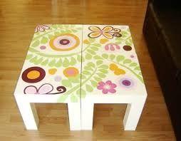 Resultado de imagen de mesas pintadas