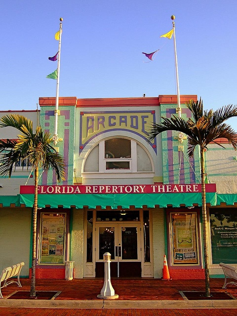 The colorful Florida Repertory Theatre in Downtown Fort Myers | by vicequeenmaria, via Flickr
