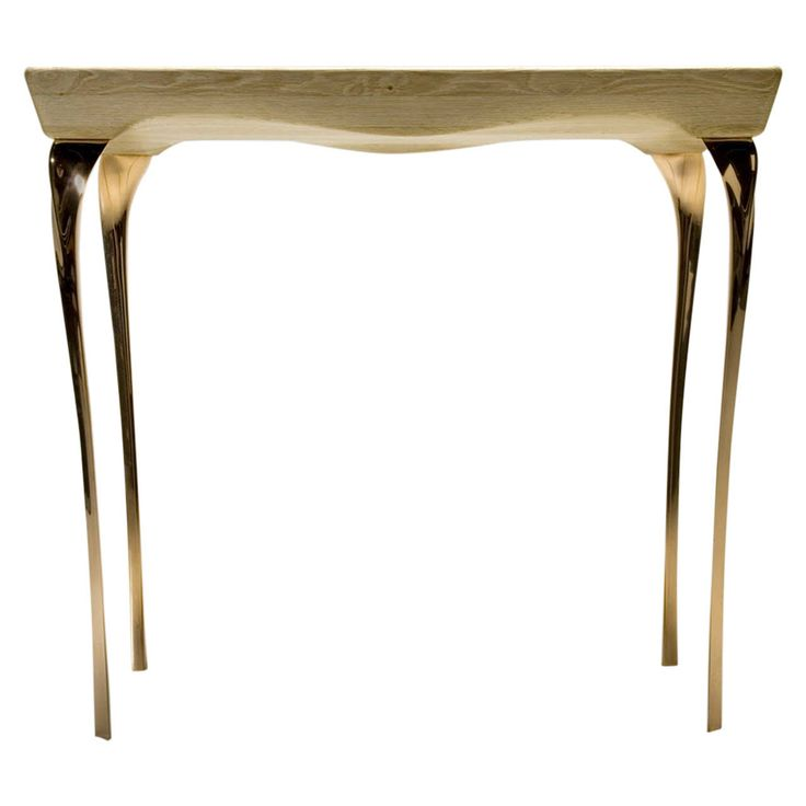 Contemporary Bronze and Oak Console Table by the British Designer Kinsley Byrne   From a unique collection of antique and modern console tables at https://www.1stdibs.com/furniture/tables/console-tables/