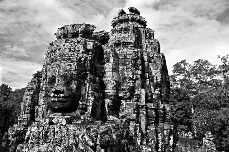 The Bayon, part of the Angkor temple complex in Cambodia.