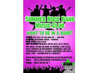 Summer Rock Band School Holiday Music Club in Farnham, Surrey Farnham Picture 1