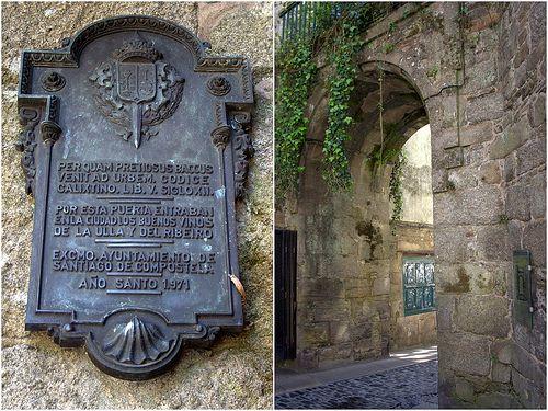 Arco de Mazarelos. Es una de las antiguas puertas de la muralla medieval de Santiago de Compostela. De hecho, es la única que se conserva en nuestros días. #SantiagodeCompostela, A Coruña (Galicia)