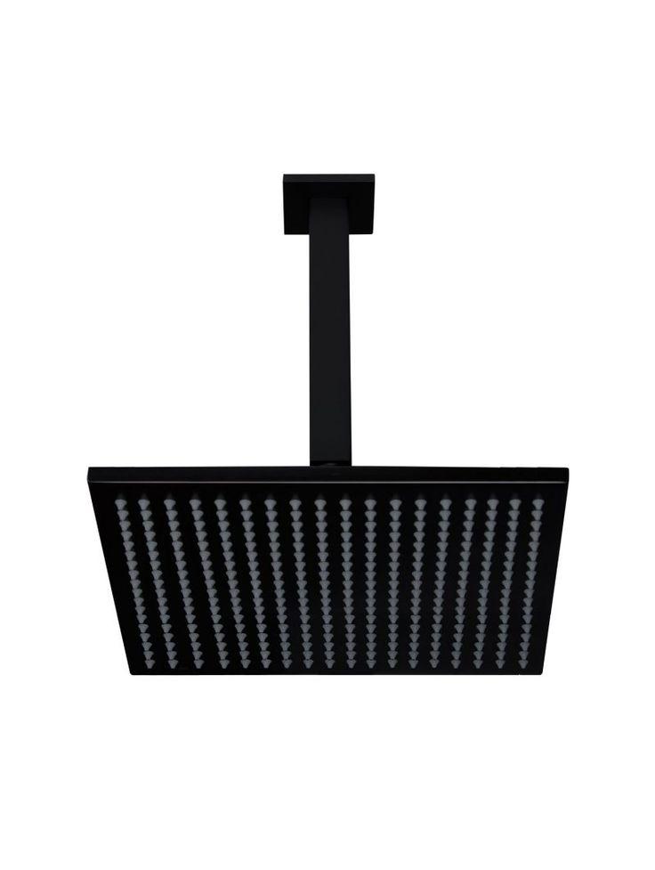 Meir's Matte Black Ceiling Shower in Electroplated coating