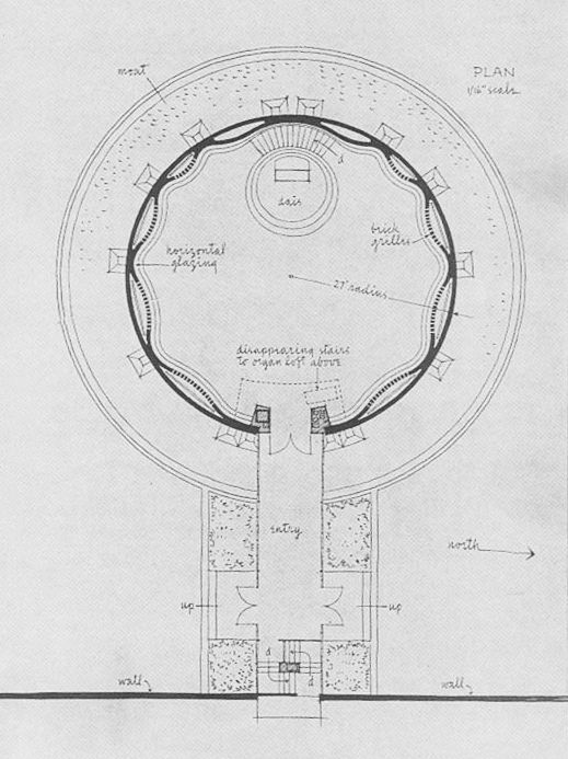 145 best round buildings images on pinterest circles for Small chapel floor plans