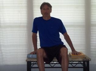Stroke Balance Exercises: (1) Weight Shift R L (2) Weight Shift F B (3) Lean on Elbow (4) Reach toward Weak Side (5) Reach Forward w/ Hands Clasped (6) Sit to Stand w/ Hands Clasped