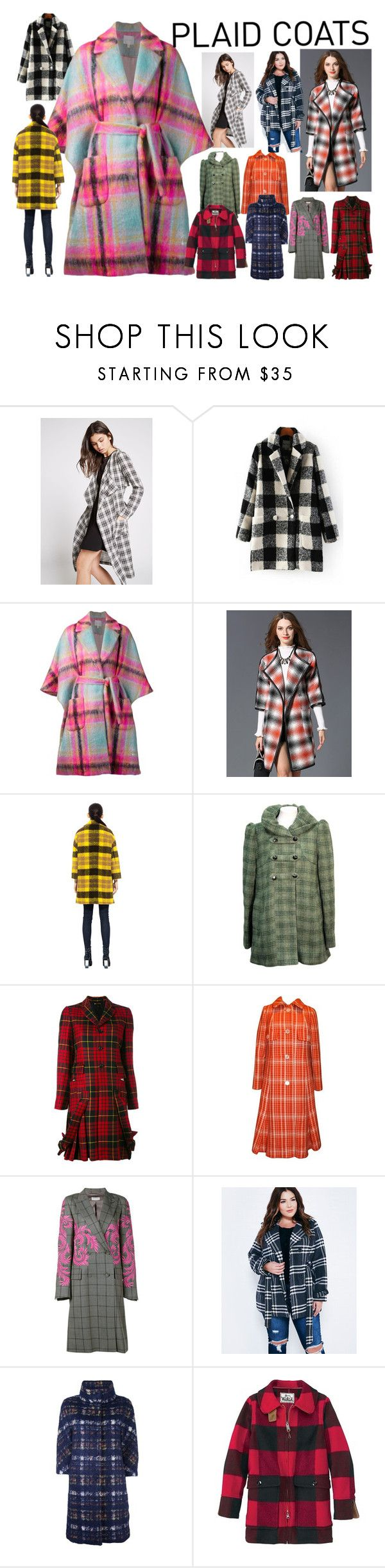 """Pattern Mix: Plaid Coats"" by curekitty ❤ liked on Polyvore featuring BCBGeneration, Delpozo, Pink Tartan, French Connection, Comme des Garçons, Jean Patou, Dries Van Noten, Wet Seal, Herno and Woolrich"