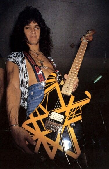 """VAN HALEN with his Chavel """"BumbleBee"""" as buried with Dimebag Daryl from Pantera"""