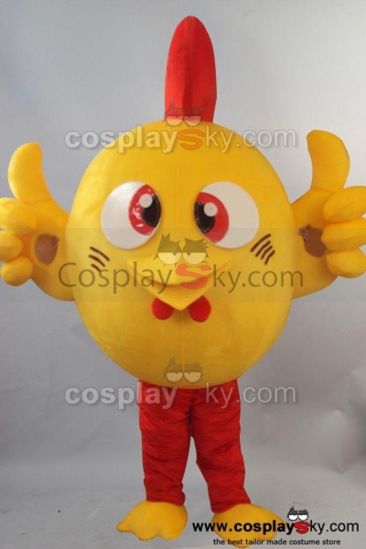 Adorable Poulet Mascotte Costume Taille D'adulte_2