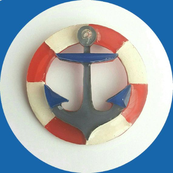 Anchor Brooch, Vintage Inspired, Novelty brooch, Rockabilly, Pinup, Retro…