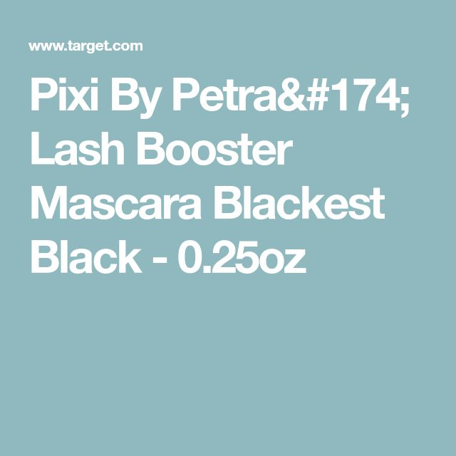 Pixi By Petra® Lash Booster Mascara Blackest Black - 0.25oz