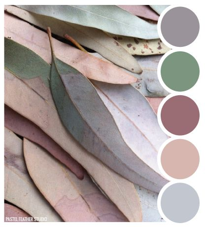 LEAF TONES - color palette  Pastel Feather Studio
