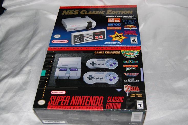 (2) Console Lot Nintendo NES Classic Edition Mini & SNES Super Nintendo Classic: $450.00 End Date: Saturday Mar-17-2018 23:17:11 PDT Buy It…