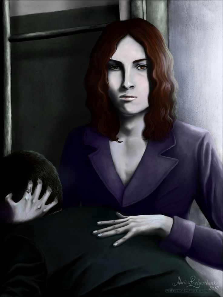 """Beware Of Dark Entrances. This man has become a vampire victim. Armand's one, perhaps. Vampire Armand from """"The Vampire Chronicles"""". Digital painting, Adobe Photoshop CS4."""