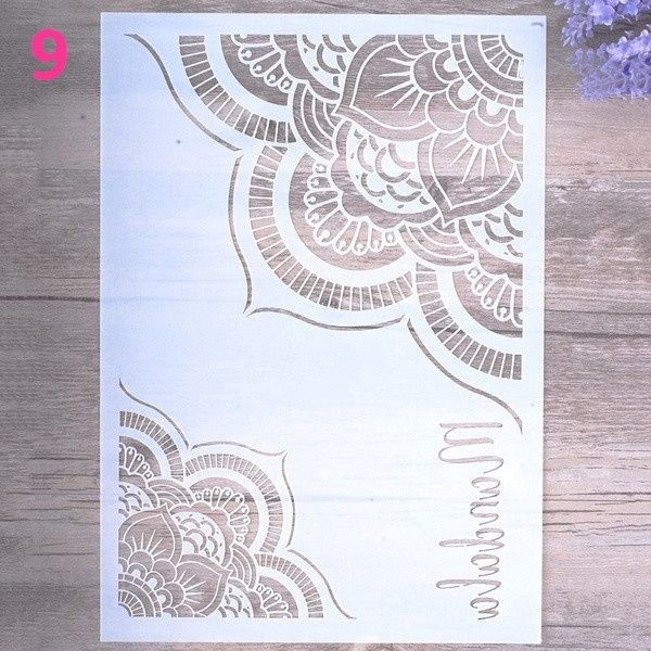 Mandala Stencils DIY for Painting on Wood Fabric Wall Art Scrap Booking Stamping