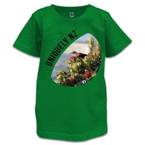NZ Children's T-Shirt - Uniquely NZ T-Shirt - Tui Photo