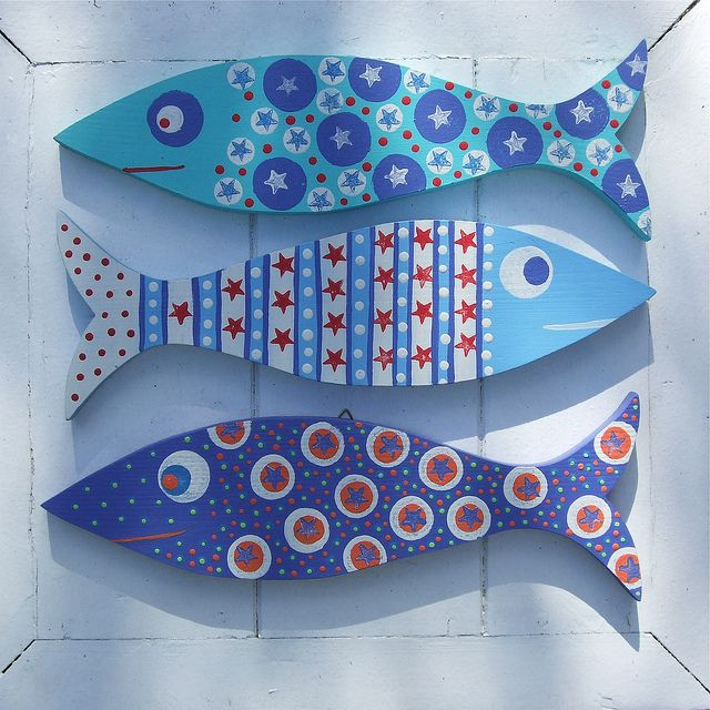 Wooden Painted Fish by Half an Acre | Flickr - Photo Sharing!