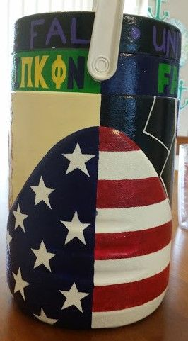 American flag buba keg (fraternity gift idea)