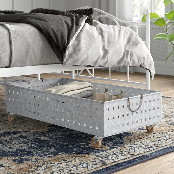 Need A Little Extra Storage Space This Under Bed Piece Is The Perfect Pick Measuring 10 H Rolling Underbed Storage Under Bed Shoe Storage Under Bed Storage