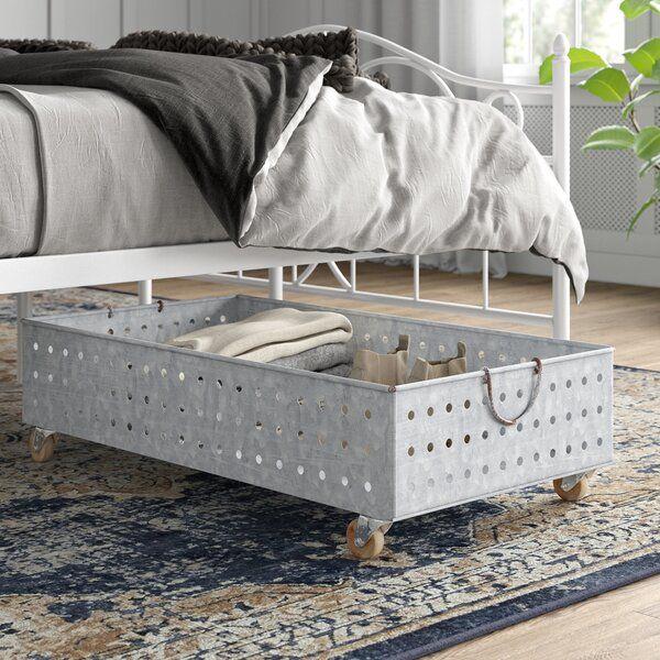 Galvanized Metal Wire Underbed Storage Under Bed Storage Rolling Underbed Storage Diy Storage