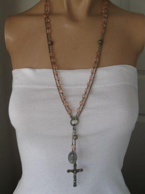 Gypsy Rosaryvintage boho long rosary necklace by OhMyGypsySoul, $56.00